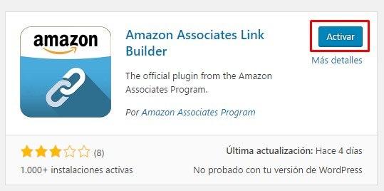 Activar Amazon Associates Link Builder