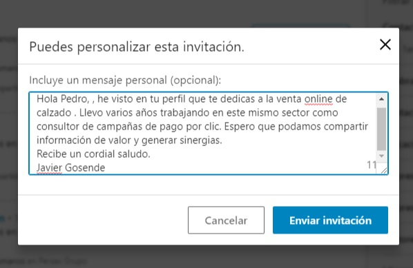 mensaje contacto linkedin experto 2