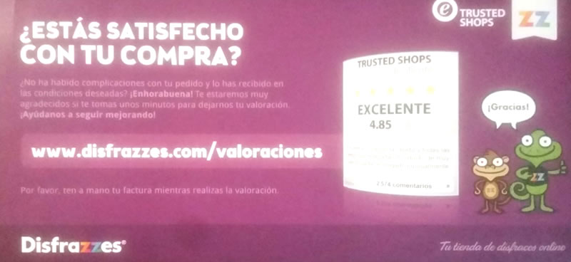 tarjeta packaging opiniones clientes