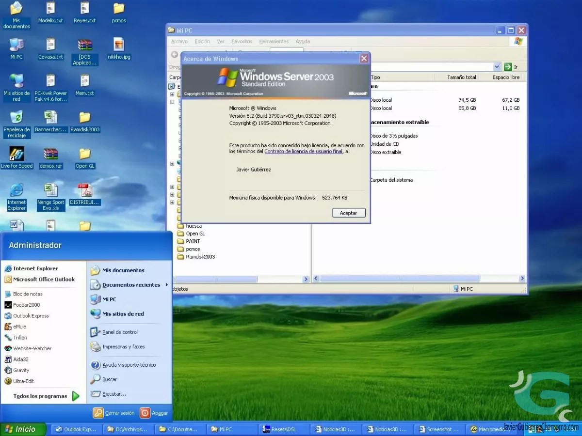 Windows 2003 Standard Server vs Windows XP Professional