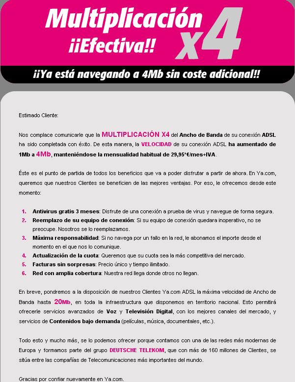 ¿Falsa duplicación de Ya.com?