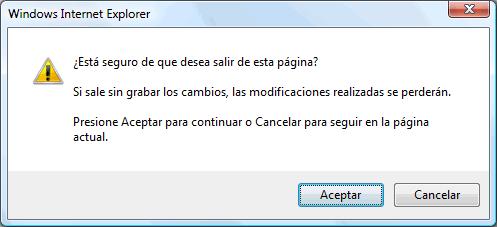 Confirmar salida en Javascript