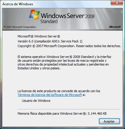 Windows 2008 Desktop