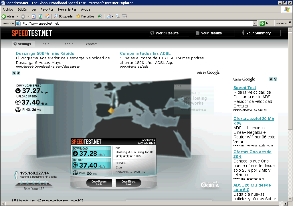 Banda ancha  (37 Mb simétricos)