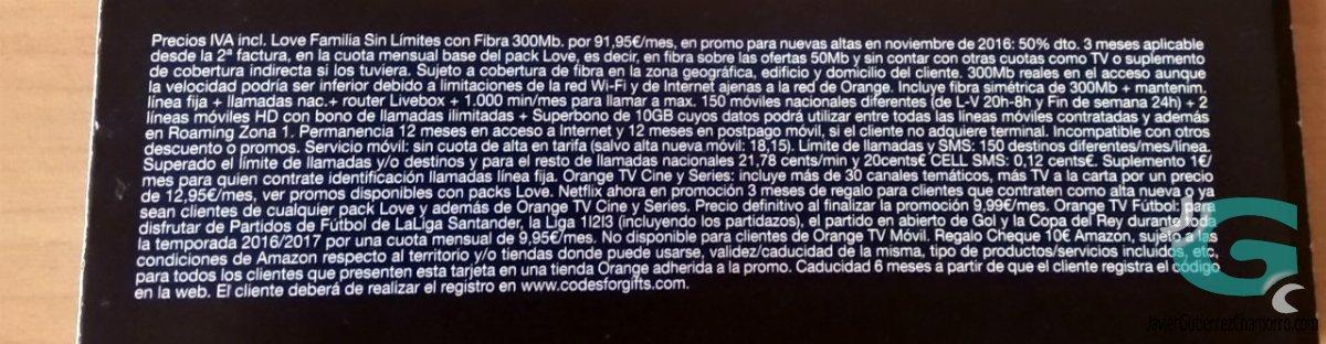 Orange. Publicidad engañosa