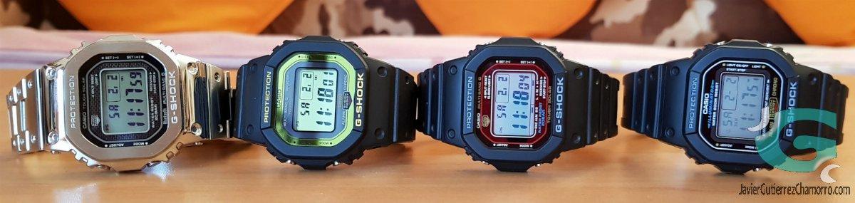 Casio DW-5600E, GW-M5610, GW-B5600-BC-1 y GMW-B5000D. Evolución generacional