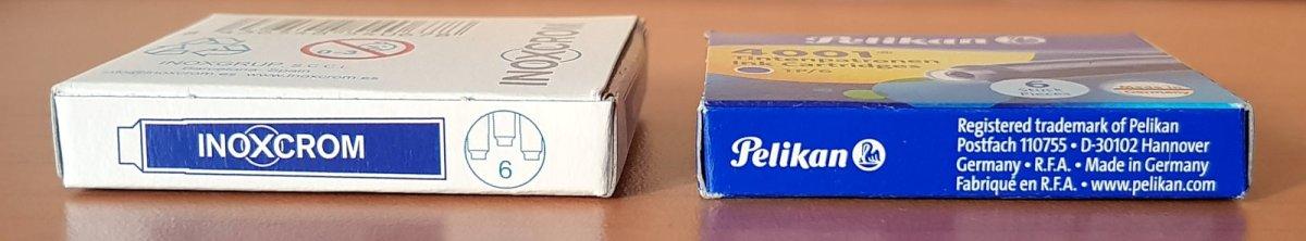 Tinta Inoxcrom vs Pelikan