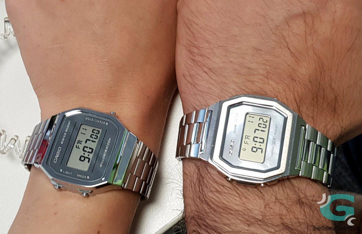 Comparativa Casio A1000D contra Casio A168WEM