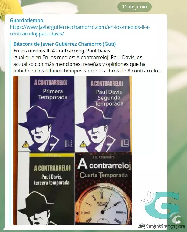 Canal de Telegram de @Guardatiempo