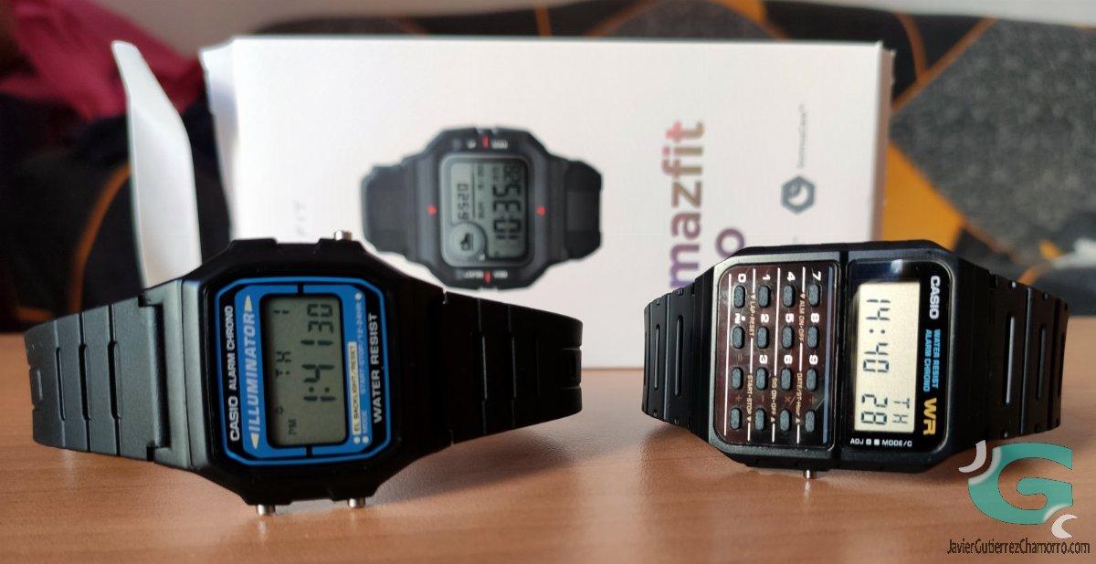 Comparativa Casio G-Shock GBD-H1000 contra Xiaomi Amazfit Neo
