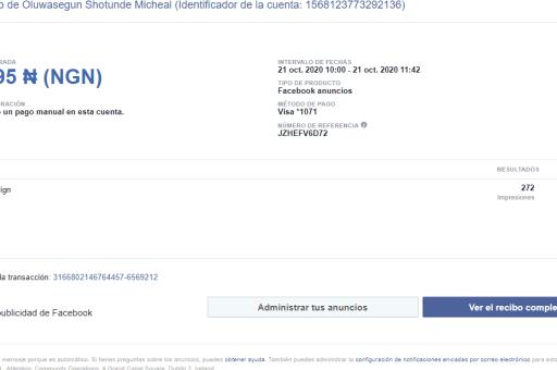 De fraudes en Facebook Ads y de cómo intentaron robarme