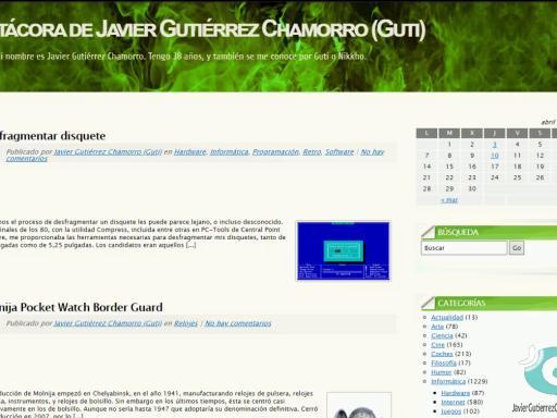 javiergutierrezchamorro.com en el Internet Archive