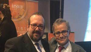 Luis Moran y Javier Peris en la Entrega de Premios del COngreso Nacional de itSMF Vision15