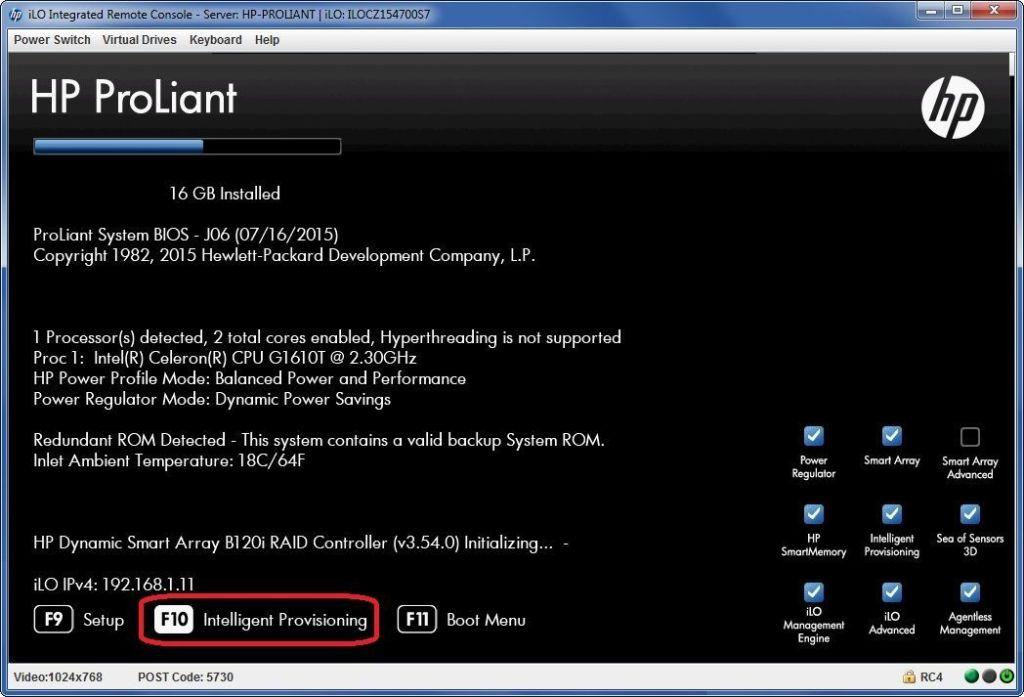 HP Proliant Crear Array 00