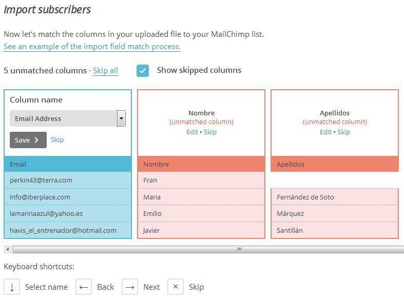 Importar Suscriptores en MailChimp 06