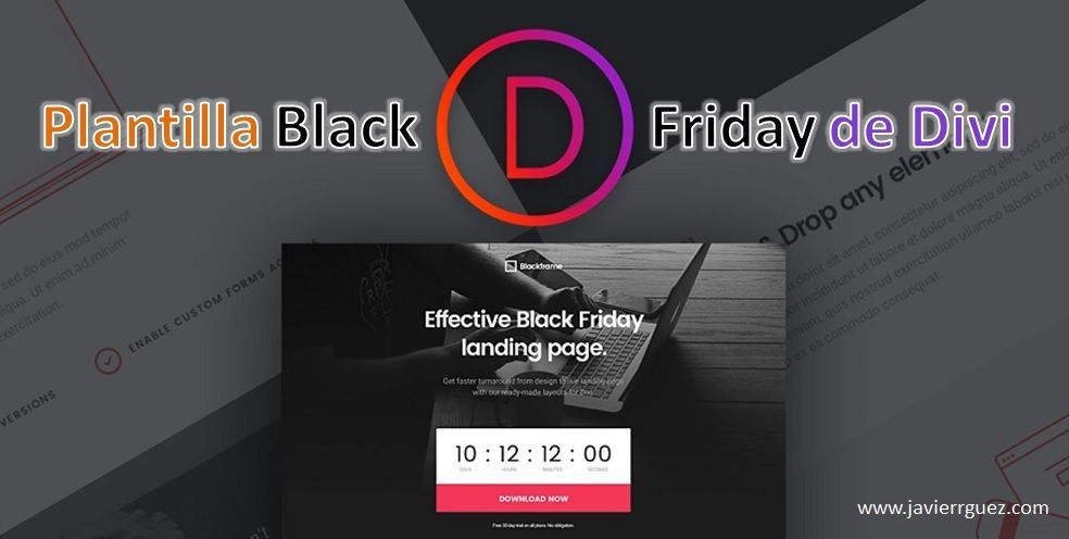 Plantilla Black Friday de Divi