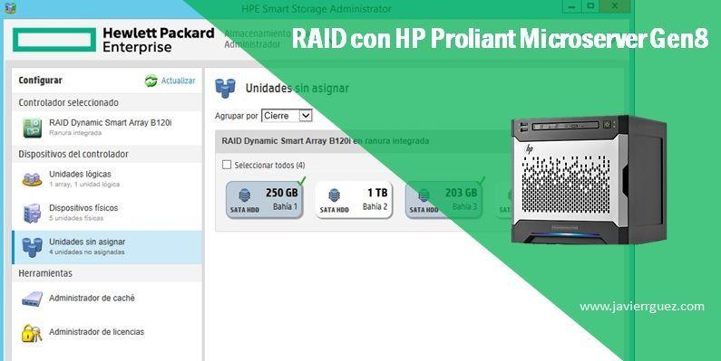 Creando RAID en HP Proliant Microserver Gen8