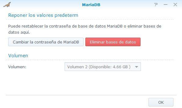 Synology Servidor Web 15 MariaDB