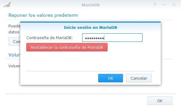 Synology Servidor Web 16 MariaDB
