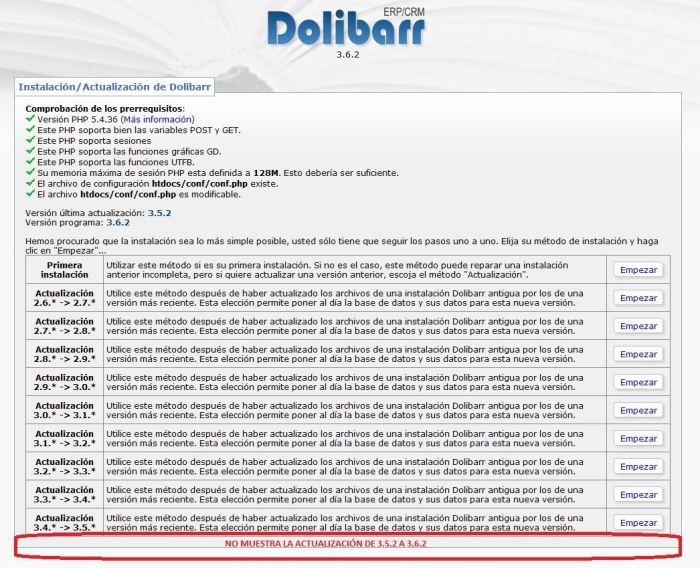 Dolibarr-NoDejaActualizar