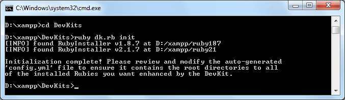 Instalar Redmine 3.2 - Paso 01 DevKits
