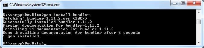 Instalar Redmine 3.2 - Paso 05 Gema Builder