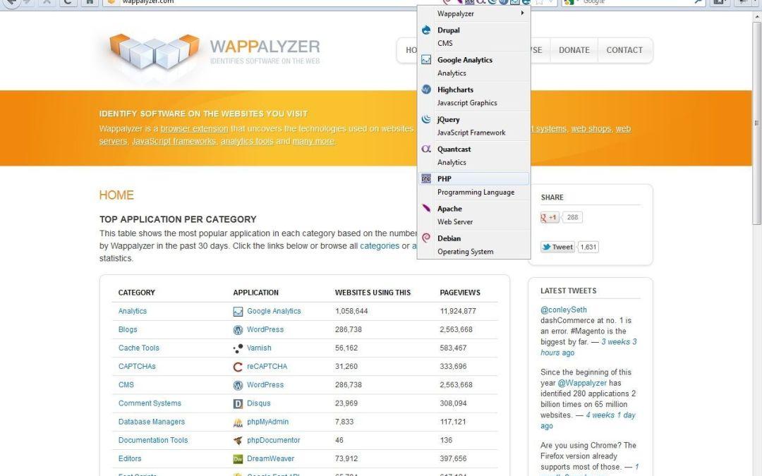 Qué theme y plugins usa una web hecha con wordpress