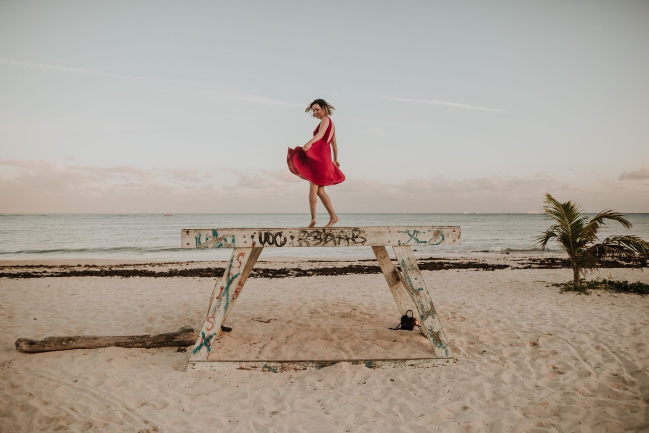 baile bailando playa felicidad