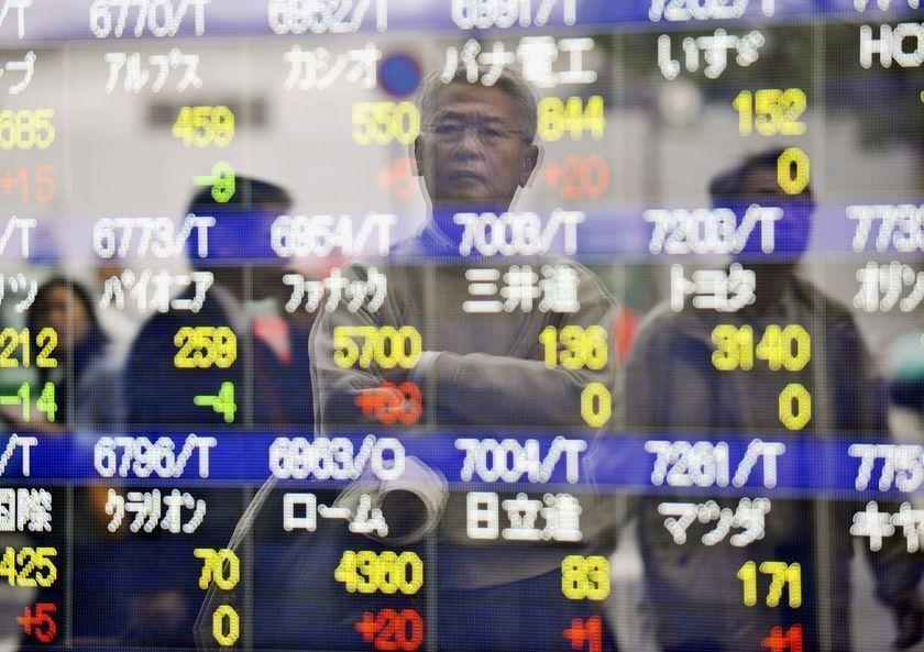Cotización de valores en la Bolsa de Tokio