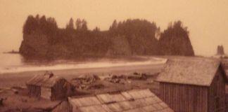 Imagen antigua de la playa de La Push, en la reserva Quileute.