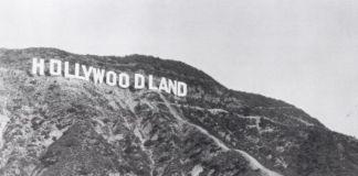 Cartel de Hollywood cuando todavía era Hollywoodland