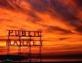 Puesta de sol en Pike Place
