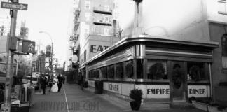 Restaurante Empire Diner. Foto de enero de 2009
