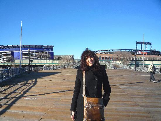 Vista del Shea Stadium a la izquierda y del Citi Field a la derecha