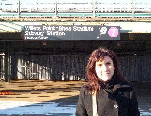 Desvío hacia el Shea Stadium desde el metro