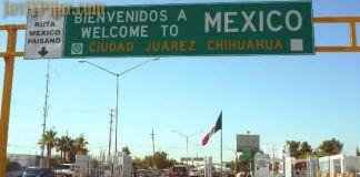 Vista que tuvimos al cruzar la frontera de entrada a Ciudad Juárez
