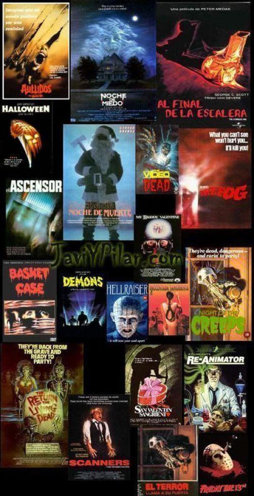 ¡¡¡ Quién no ha visto una colección de carteles así en un videoclub en los '80 !!!