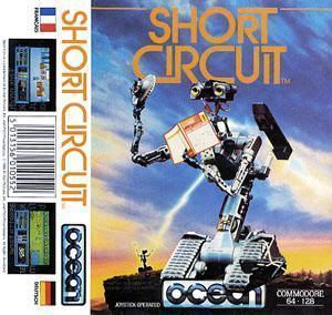 """Juego para Commodore 64 de """"Cortocircuito""""(""""Short Circuit"""", 1986)"""
