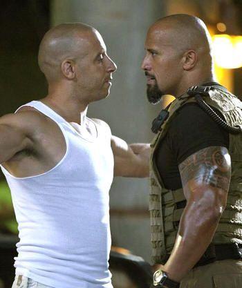 Vin Diesel y Dwayne Johnson: mucha testosterona en Fast Five