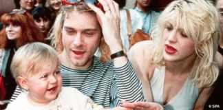 Kurt Cobain, Courtney Love y su hija Frances