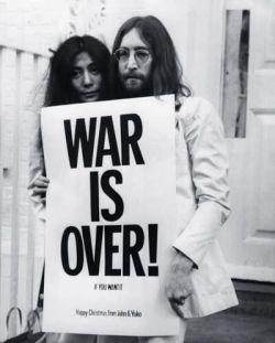 Lennon y Ono, activistas por la paz