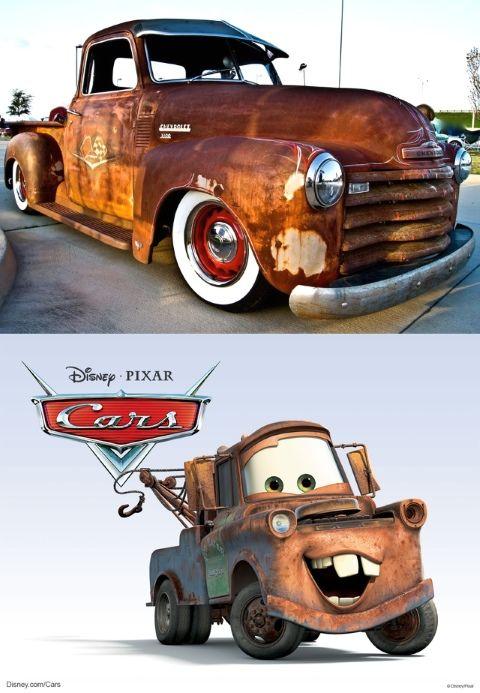 La grúa Mate es en realidad una camioneta Chevrolet 3100