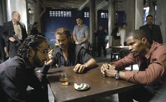 """Jamie Foxx y Colin Farrell en """"Corrupción en Miami"""" (""""Miami Vice"""", 2006)"""