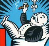El empresario visto por los militantes de la izquierda (Derechos de imagen: Hasbro)