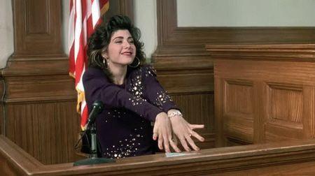 """Preciosa Marisa Tomei en """"Mi primo Vinny"""" (""""My cousin Vinny"""", 1992)"""