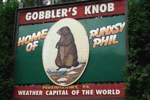 Cartel de El Día de la Marmota en Punxsutawney (Pensilvania)