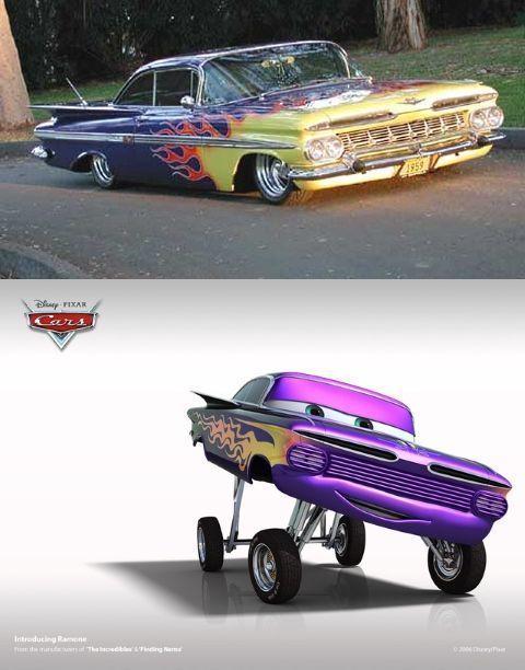 Ramone es en realidad unChevrolet Impala de 1959 Lowrider