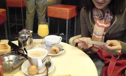 En la cafetería