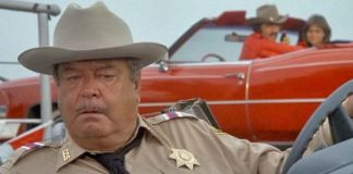 "El sheriff Bufford T. Justice (Jackie Gleason) en ""Los Caraduras"" (""Smokey and the Bandit"", 1977)"