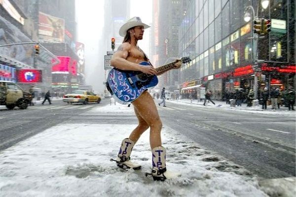 Naked Cowboy, el vaquero desnudo de Manhattan